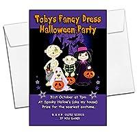10 Personalised Kids Girls Boys Halloween Party Invitations N11