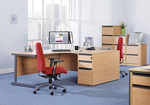 Büro Elefant oe05-m25dh8b 800mm tief Schreibtisch hoch Ständer mit zwei Flache Schubfächer und