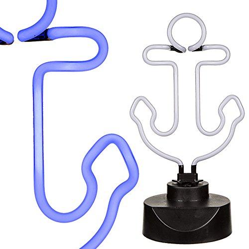 Lampe Ancre bleu fluo 35 cm