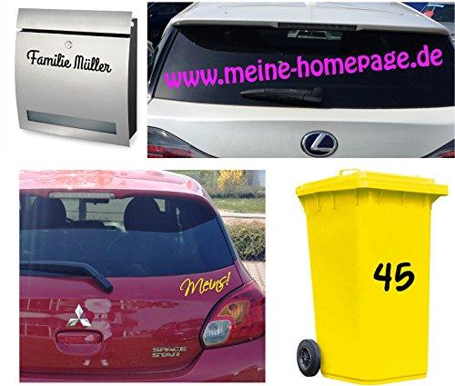 Auto Schriftzug (Autoaufkleber ***Wunschname*** Schriftzugfarben & Schriftart sind frei wählbar !)
