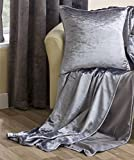 "Silver Crushed Velvet Soft Touch Sofa / Bed Throw - 59"" x 78"" (150cm x 200cm)."