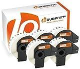 Bubprint 5 Etiketten kompatibel für Brother DK-22210 DK 22210 für P-Touch QL1050 QL1060N QL500BW QL550 QL560 QL570 QL580N QL700 QL710W QL720NW QL810W