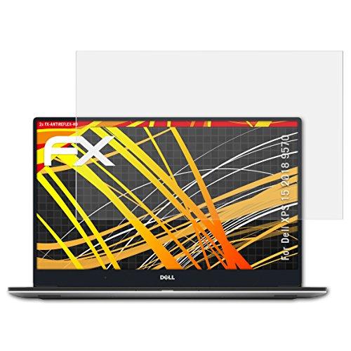 atFolix Folie für Dell XPS 15 2018 (9570) Displayschutzfolie - 2 x FX-Antireflex-HD hochauflösende entspiegelnde Schutzfolie