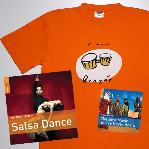 Rough Guide To Salsa Dance: Special Edition with Bongos T-shirt (large) and download code