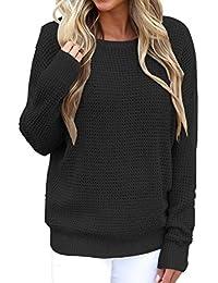1de1917907ae Pullover Langarm Winter Damen Sunday Reizvolle Reine Farben Backless  Strickende Beiläufige Blusen