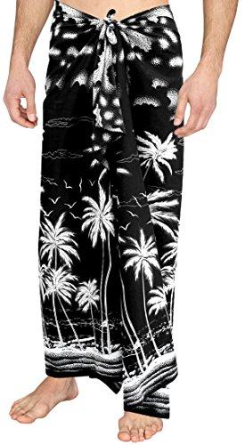 Sarong Bekleidung Pareos (Badebekleidung verschleiern Bademode Herren Sarong Badeanzug Badeanzug Pareo schwarz schwimmen)