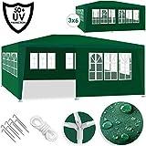 Kesser® Festzelt 3x6m | Pavillon | mit 6 aufrollbare Seitenwände | Gartenzelt | Partyzelt | wasserabweisend wasserdicht | UV-