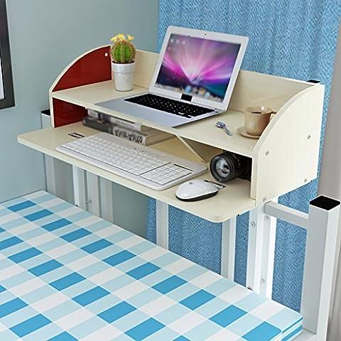 SESO UK- Creative Computer Desk Shelves BookShelf Bed Storage Shelter Children Student Bookcase Wood Dormitory - Multiple Layers ( Color : Maple color