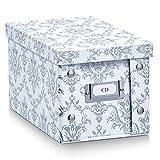 Zeller 17970 Aufbewahrungsbox Vintage, Pappe, weiß, ca. 16,5 x 28 x 15 cm