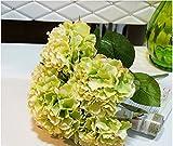 Oxforder Hochzeitsdekoration Blumen Kunst Hortensie Bouquet Dekoration 5 Köpfe Gebühren Seide und getrocknet Hortensien