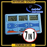 7-IN-1 Messgerät Multimeter Tester Prüfer (EC, CF, TDS, PH, °C, °F & Redox) Leitwert/Leitfähigkeit Aquarium Teich Pool P15