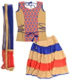 Parampara Girls' Silk Lehenga Choli (Kud...