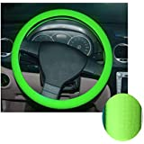 K-Bright 36-40cm Suave cubierta del volante del coche Silicona cuero textura coche decorar coche accesorio elástico antideslizante (verde)