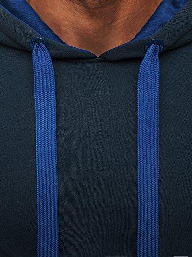 OZONEE Felpa Uomo Felpa Per Allenamento Con Cappuccio Felpa con cappuccio J.STYLE 2075 blu blu scuro