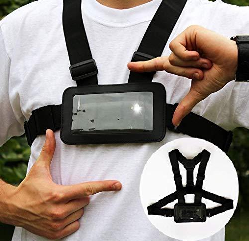 Designo Nutzen Sie Ihr Handy wie Action Kamera Körper Brust Geschirr Gurt Handyhalter verwendet für Action Sports