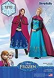 Simplicity 1210Tamaño R5Disfraces de Frozen de Disney para Mujer patrón de Costura