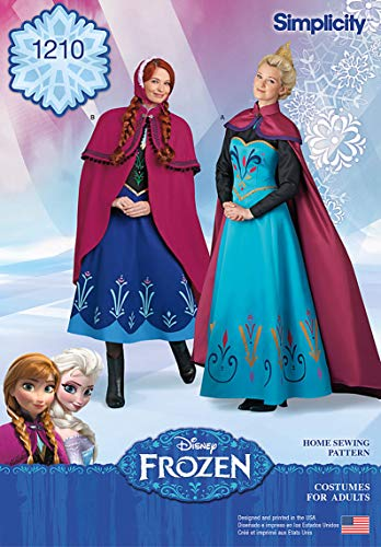 Simplicity 1210Größe R5Disney Frozen Kostüme für Schnittmuster Schnittmuster, Mehrfarbig