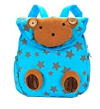 Createbag Kids Cartoon Backpack Children Knapsack Nursery Girls Boys School Travel Bag Bear Blue