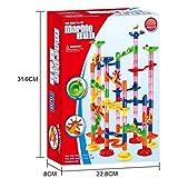 Formule billes Construction Blocs Longra Jeux De Construction Casse-tête Circuit de billes jeu educatif construction eveil enfant (33.8 x 45cm, Multicolore)