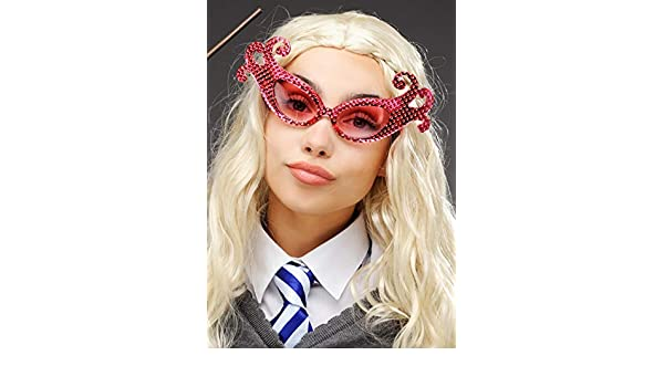Luna Lovegood Style Pink Sparkle Fancy Glasses