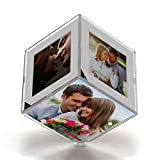 #7: LED Transparent Photo Personalized 5 photo Cube GiftsOnn Photo Frame And Cube valentine Day,Birthday,anniversary, mother's day, Father's day,Raakhi photo GiftsOnn Photo Frame And Cube.