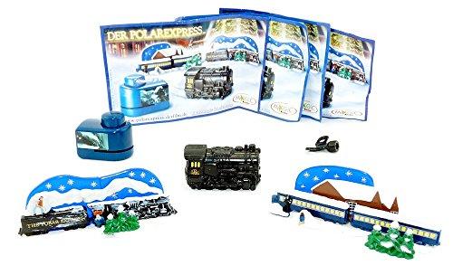 Kinder Überraschung, Spielzeugsatz vom Polar Express, alle 4 Inhalte mit Deutschen Beipackzettel.