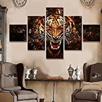 FanVass Trasferimenti su tela di arte animale Roar Set di