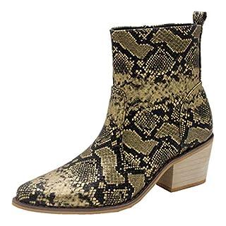 Xuthuly Winter Frauen Mode Sexy Serpentin Spitz Stiefeletten Casual Outdoor Bequeme Quadratische Ferse Einzelnen Schuhe