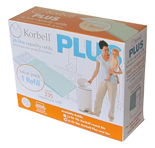 Korbell KB280DR1B Plus Ricarica per Bidone, Confezione 1 Pezzo, Verde, 26 L
