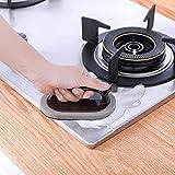 MA87New Spugna Pulizia Spazzola Carborundum detergente per Lavaggio Home Magic Kitchen Tool Hot Pennello Spugna Nero