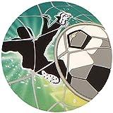 Tortenaufleger Tortenfoto Aufleger Foto Fußball Tor rund ca. 20 cm *NEU*OVP*