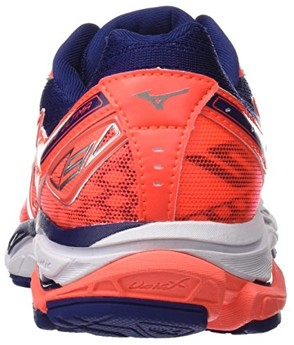 Mizuno Wave Ultima Wos, Chaussures de Running Femme Multicolore (Fiery Coralwhiteblueprint)