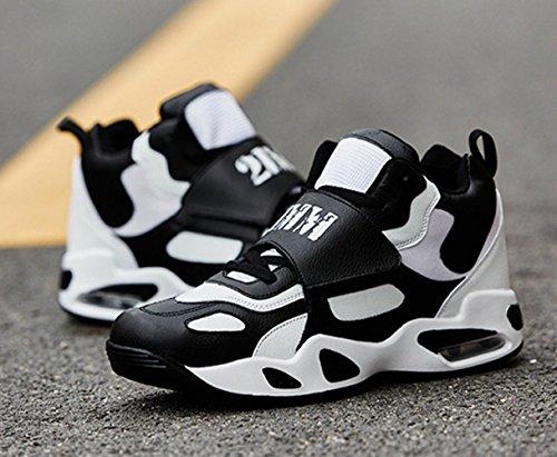 Chaussure de basket-ball homme sneakers adulte sport course voyage entraînement respirant tendance Noir