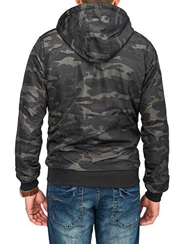 Herren Windbreaker Zip Hoodie Wendejacke CROSS Nr.1662 Camouflage - 4