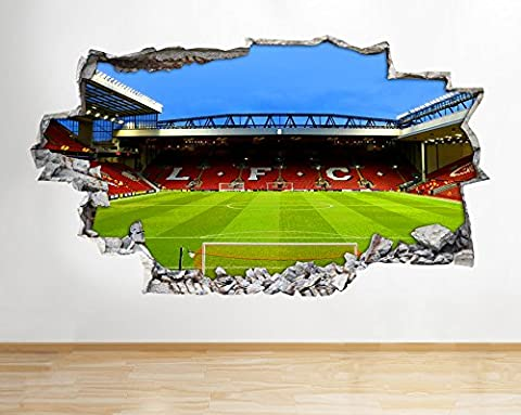 H006 Liverpool Stadium Anfield Wall Decal Poster 3D Art Stickers Vinyl Room(HUGE (100x175cm))