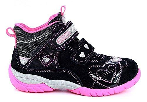 Superfit Halbschuh Sport3 schwarz pink Herz Goretex Schwarz