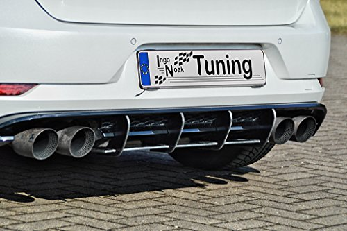 Ingo Noak Tuning Racing Heckansatz Diffusor INE-280045-7RRT-ABS (F),aus ABS hergestellt