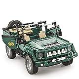 LXWM RC Coche Jeep Coche Edificio Militar Ladrillos Bloques Juguetes De Ingeniería Juguetes para Niños Compatible Technic Kids 561 Unids Regalo