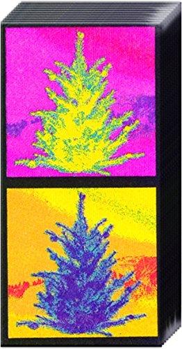 2Confezioni Di Alberi di Natale carta tasca Ihr Borsetta tessuti-Happy Bright