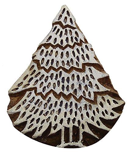 Dekorative Holz Stempel Baum Muster Blöcke Hand geschnitzten Textile Printing Block