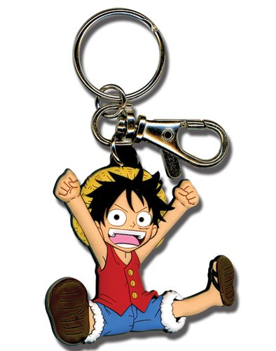 Chibi Luffy de One Piece Llavero de PVC