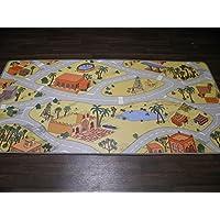 Kids Vinyl Sandy Beach Playmat / Rug 100cm x 200cm Easy Wipe Clean