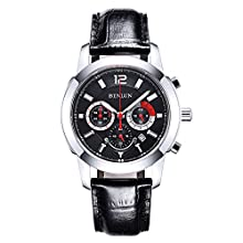BINLUN Men's Quartz Watches Date Waterproof Luminous Chronograph Watches for Men Valentines Gift
