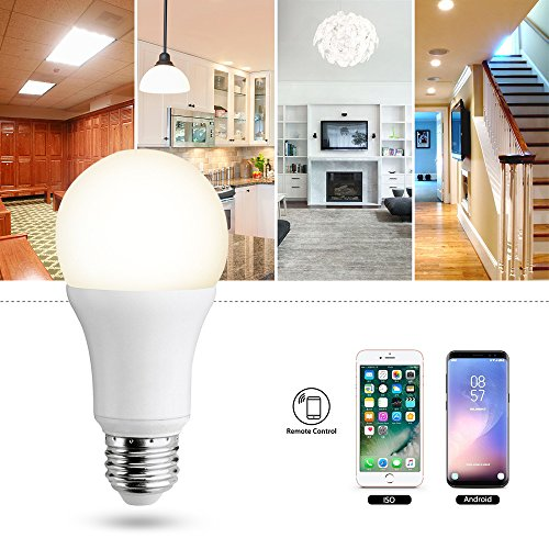 Smart LED Wifi lampe,MEAMOR 7W Dimmbar Glühbirne RGB+Warmweiß E27 Birne Mit Alexa und Google Home,Steuerbar via App,60W äquivalent[Energieklasse A+] - 3