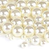 Naler 500 perlas de arte, varios tamaños, 4/6/8/10 mm, abalorios de perlas para manualidades, decoración, bisutería, bricolaje