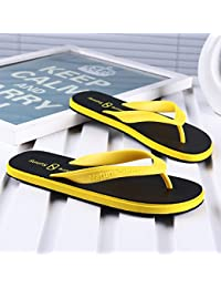 AIHUWAI Sandalen Männer Sandalen Sommer Flip-Flops Männer Rutschfeste Freizeit Sandalen Studenten Studenten Flip Flop Sandalen Und Hausschuhe UJKGUc