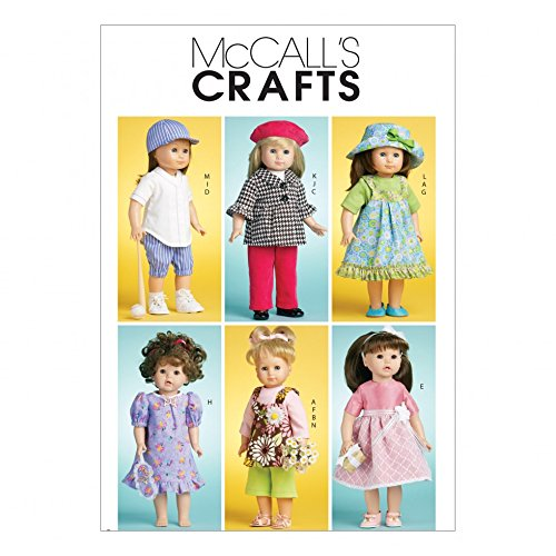 Yd 0.375 (McCall 's Schnittmuster 6137Crafts Phantasie Puppenkleider Größen: One Size)