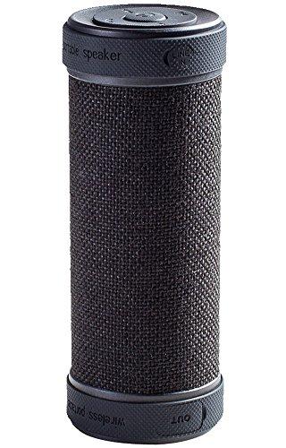 GGSDY beweglicher drahtloser Bluetooth-Lautsprecher mit Powerbank,360 Grad und 3D-Stereo-Surround-Sound,bis zu 18 Stunden Wiedergabezeit,wasserdicht,stoßfest und staubdicht,Geeignet für Indoor oder Outdoor (Schwarz)