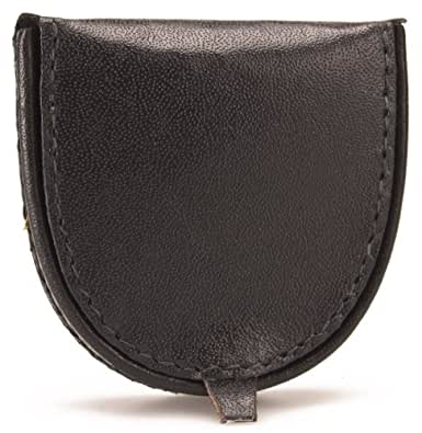 GENUINE LEATHER COIN PURSE (1589) (BLACK)