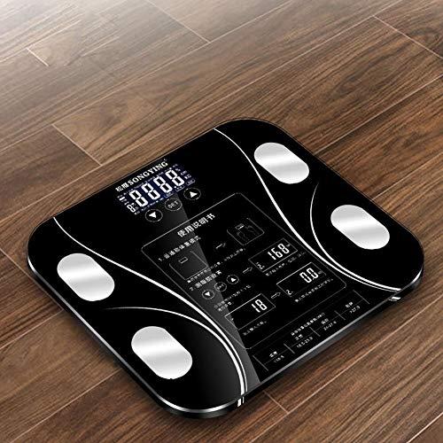 Tik Smart-Body-Fat-Scale-Badezimmer-Bluetooth-Digital-Gewichtsskala verfolgt 15 Schlüsselkompositions-Analysator - 400 lbs